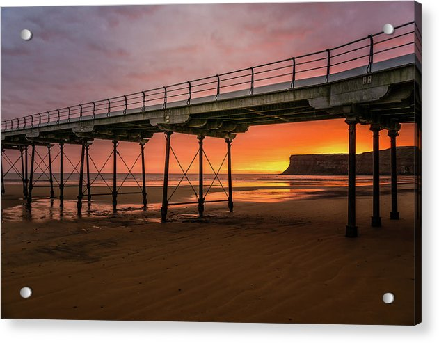 Saltburn Pier At Sunset - Acrylic Print from Wallasso - The Wall Art Superstore