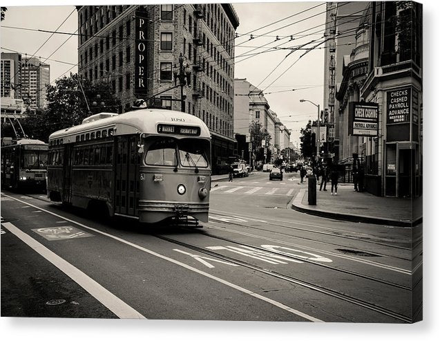 San Francisco Cable Car Trolley - Canvas Print from Wallasso - The Wall Art Superstore