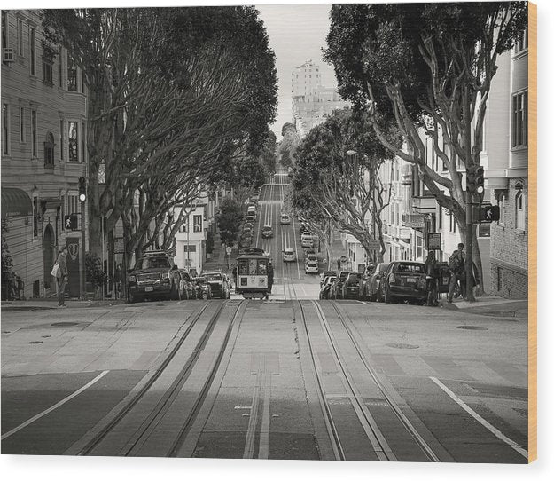 San Francisco Cable Car Trolly - Wood Print from Wallasso - The Wall Art Superstore