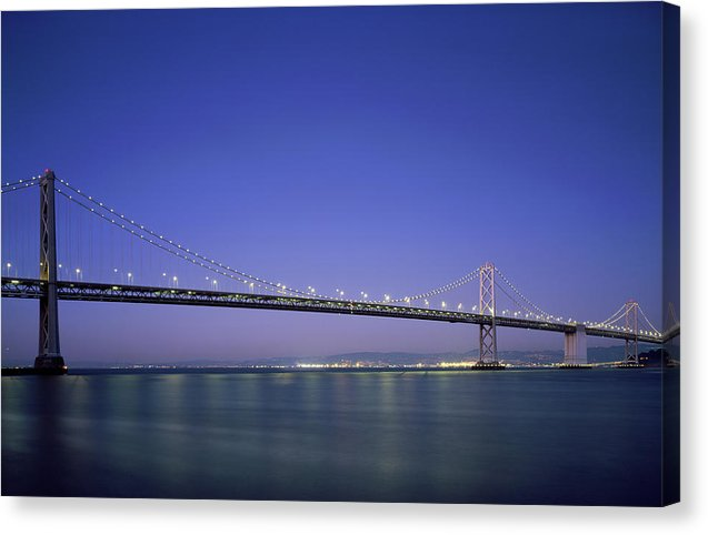 San Francisco Oakland Bay Bridge, California - Canvas Print from Wallasso - The Wall Art Superstore