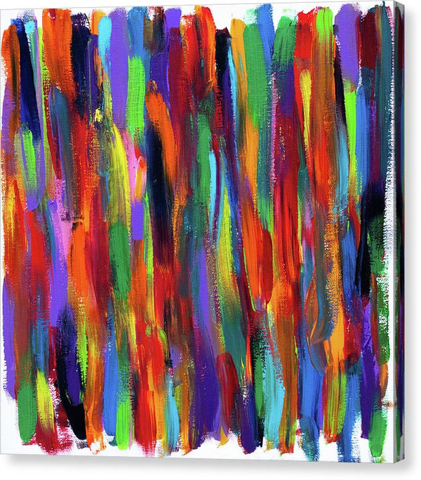 Sarape Abstract by Jessica Contreras - Canvas Print from Wallasso - The Wall Art Superstore
