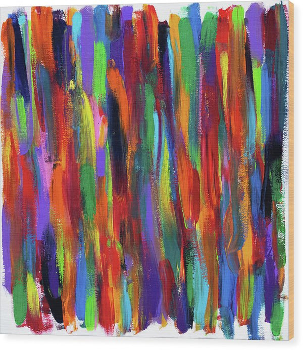 Sarape Abstract by Jessica Contreras - Wood Print from Wallasso - The Wall Art Superstore