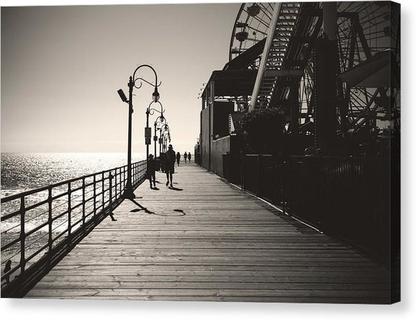 Seaside Boardwalk With Carnival Games - Canvas Print from Wallasso - The Wall Art Superstore