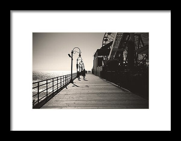 Seaside Boardwalk With Carnival Games - Framed Print from Wallasso - The Wall Art Superstore