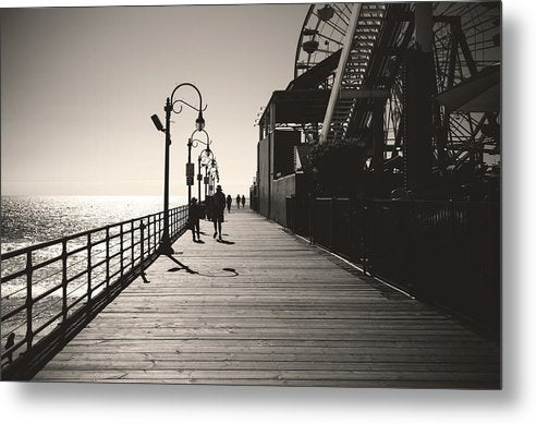 Seaside Boardwalk With Carnival Games - Metal Print from Wallasso - The Wall Art Superstore