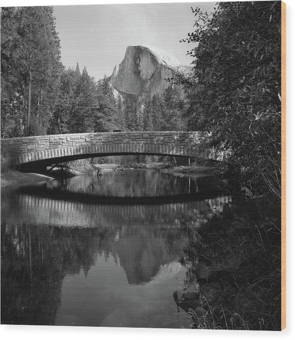 Sentinel Bridge In Yosemite National Park - Wood Print from Wallasso - The Wall Art Superstore
