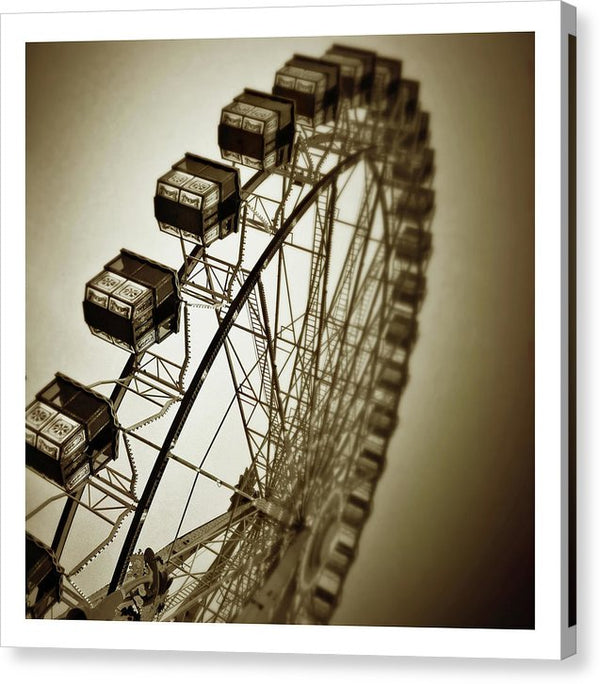 Sepia Ferris Wheel - Canvas Print from Wallasso - The Wall Art Superstore