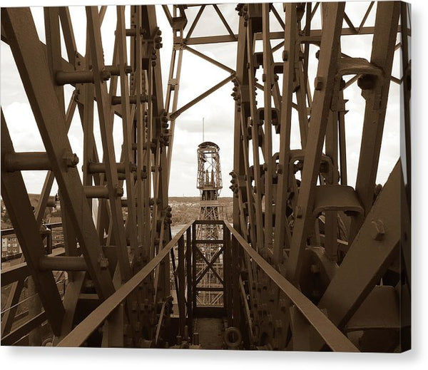 Sepia Industrial Steel Structure - Canvas Print from Wallasso - The Wall Art Superstore