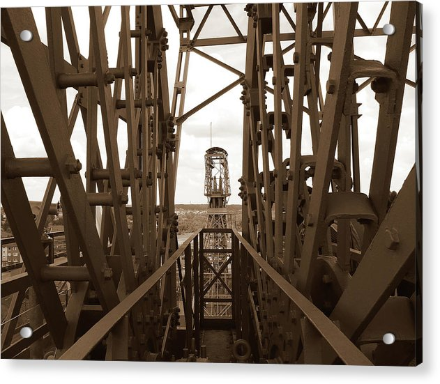 Sepia Industrial Steel Structure - Acrylic Print from Wallasso - The Wall Art Superstore