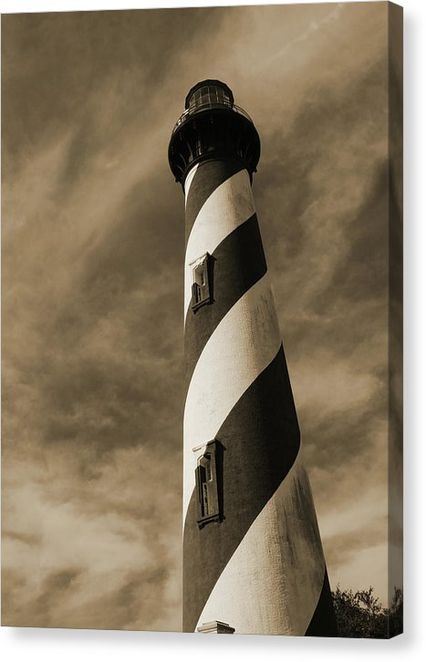Sepia Tone Lighthouse - Canvas Print from Wallasso - The Wall Art Superstore
