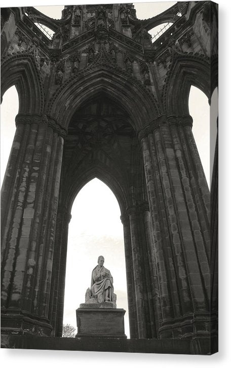 Sir Walter Scott Monument In Edinburgh Scotland - Canvas Print from Wallasso - The Wall Art Superstore