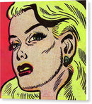 Skeptical Blonde Woman, Vintage Comic Book - Canvas Print from Wallasso - The Wall Art Superstore