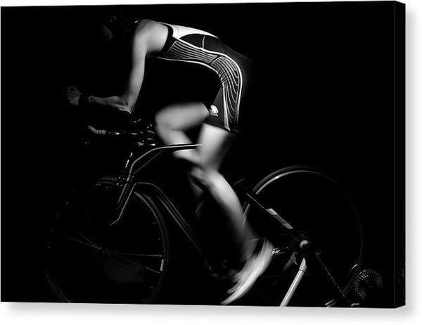 Sleek Professional Cyclist - Canvas Print from Wallasso - The Wall Art Superstore