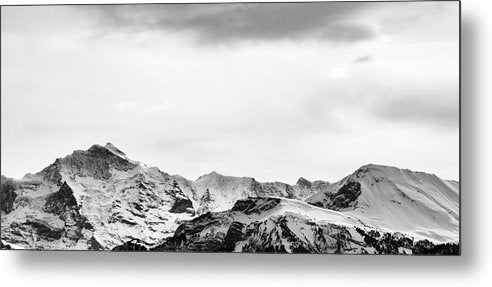 Snowy Alpine Mountain Tops - Metal Print from Wallasso - The Wall Art Superstore