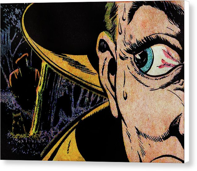Someone Is Watching, Vintage Comic Book - Canvas Print from Wallasso - The Wall Art Superstore