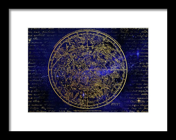 Southern Hemisphere Constellations - Framed Print from Wallasso - The Wall Art Superstore