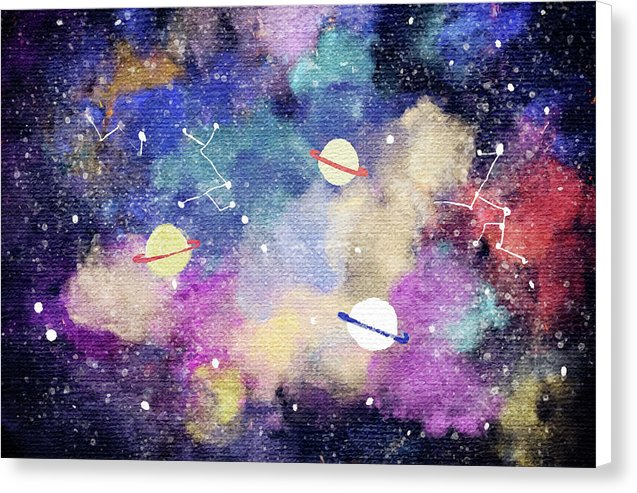 Space, Planets, Constellations For Kids - Canvas Print from Wallasso - The Wall Art Superstore