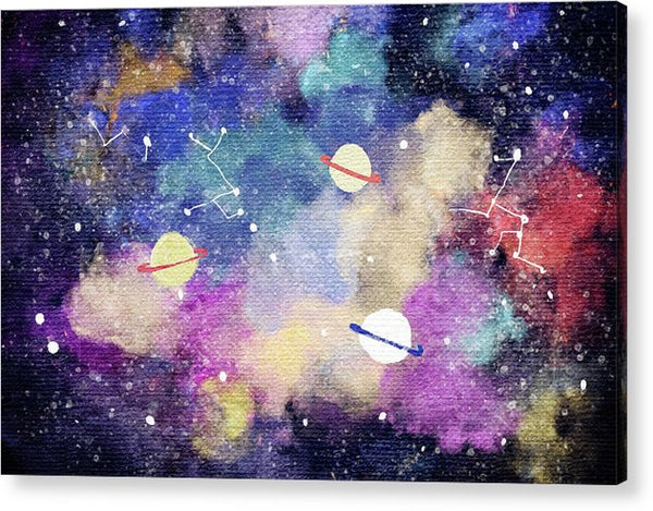 Space, Planets, Constellations For Kids - Acrylic Print from Wallasso - The Wall Art Superstore