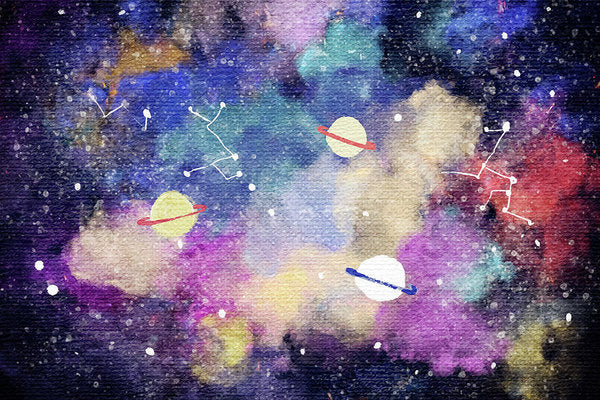 Space, Planets, Constellations For Kids - Art Print from Wallasso - The Wall Art Superstore