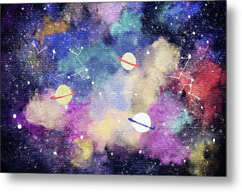 Space, Planets, Constellations For Kids - Metal Print from Wallasso - The Wall Art Superstore