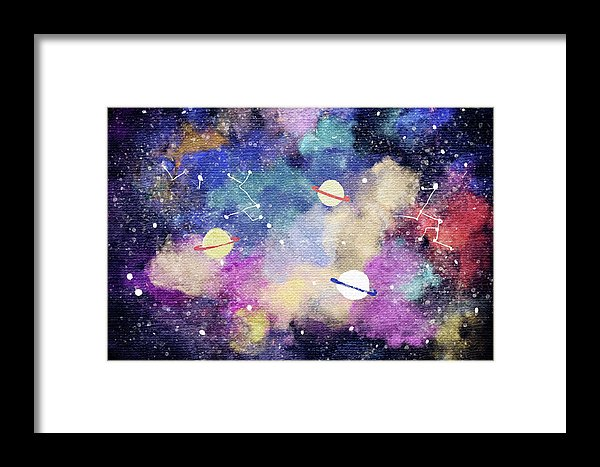 Space, Planets, Constellations For Kids - Framed Print from Wallasso - The Wall Art Superstore