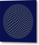 Sphere With Isometric Points, 2 of 2 Set - Metal Print from Wallasso - The Wall Art Superstore
