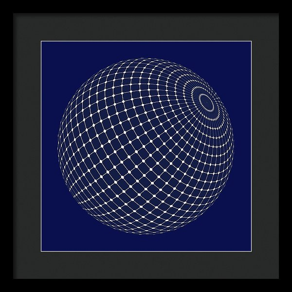 Sphere With Isometric Points, 2 of 2 Set - Framed Print from Wallasso - The Wall Art Superstore