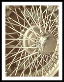 Spokes of Vintage Car Wheel - Framed Print from Wallasso - The Wall Art Superstore