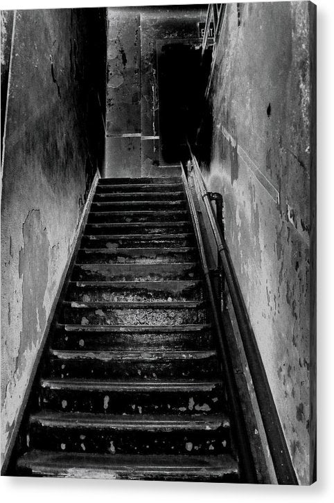 Spooky Abandoned Staircase - Acrylic Print from Wallasso - The Wall Art Superstore