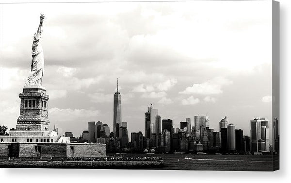 Statue of Liberty and New York City Skyline - Canvas Print from Wallasso - The Wall Art Superstore