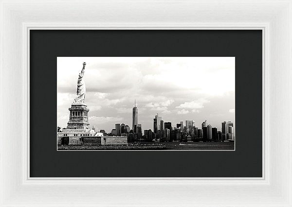 Statue of Liberty and New York City Skyline - Framed Print from Wallasso - The Wall Art Superstore