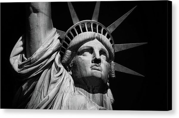 Statue of Liberty Face - Canvas Print from Wallasso - The Wall Art Superstore