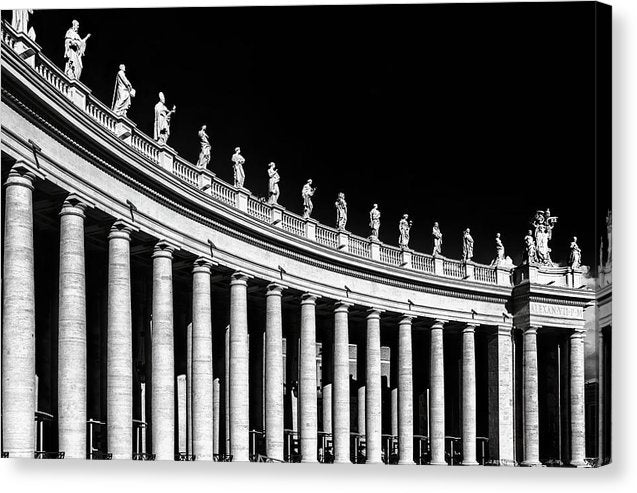 Statues At St. Peter's Basilica, Vatican, Rome - Canvas Print from Wallasso - The Wall Art Superstore