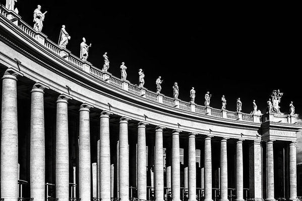 Statues At St. Peter's Basilica, Vatican, Rome - Art Print from Wallasso - The Wall Art Superstore