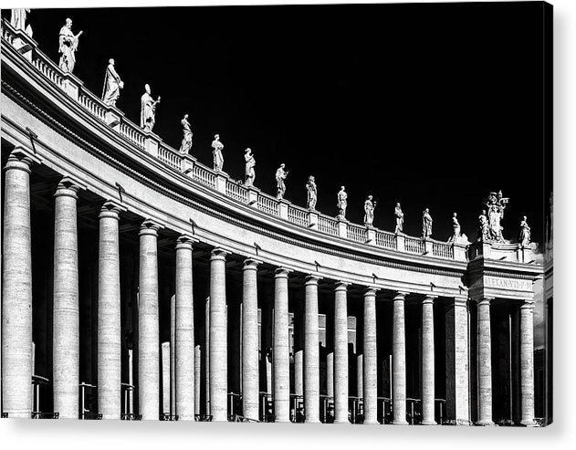 Statues At St. Peter's Basilica, Vatican, Rome - Acrylic Print from Wallasso - The Wall Art Superstore