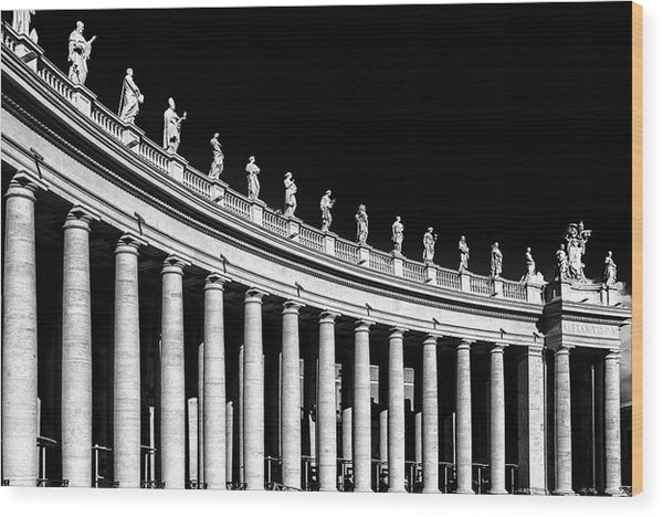Statues At St. Peter's Basilica, Vatican, Rome - Wood Print from Wallasso - The Wall Art Superstore