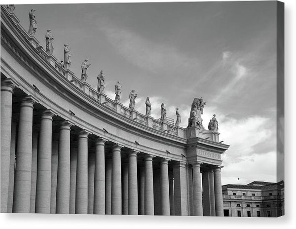Statues Atop St. Peter's Basilica, Vatican, Rome - Canvas Print from Wallasso - The Wall Art Superstore