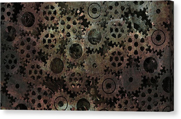Steam Punk Gear Texture - Canvas Print from Wallasso - The Wall Art Superstore
