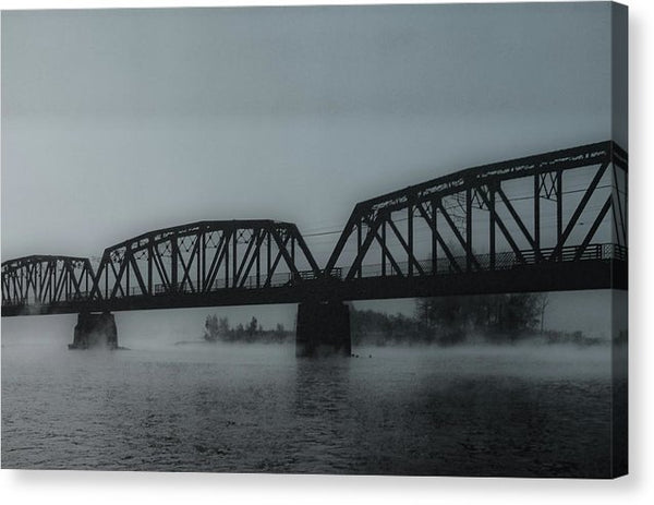 Blue Steel Bridge - Canvas Print from Wallasso - The Wall Art Superstore