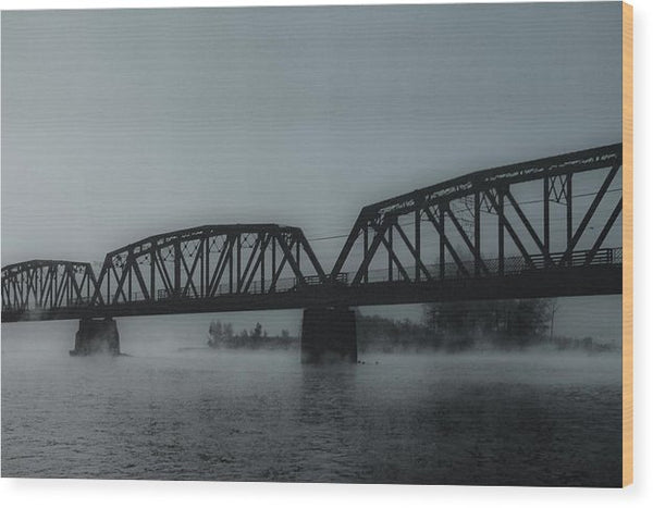 Blue Steel Bridge - Wood Print from Wallasso - The Wall Art Superstore