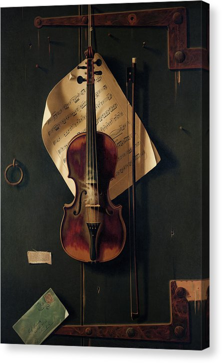Still Life With Violin by William Harnett, 1888 - Canvas Print from Wallasso - The Wall Art Superstore