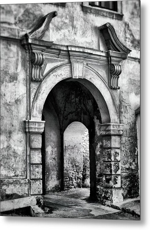 Stone Archway - Metal Print from Wallasso - The Wall Art Superstore