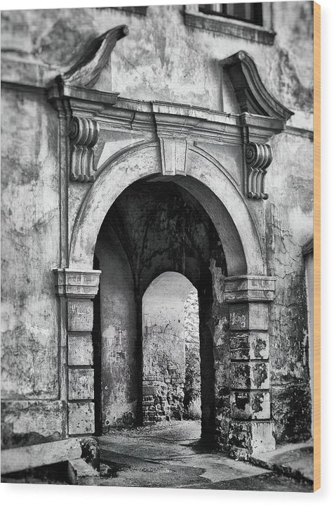 Stone Archway - Wood Print from Wallasso - The Wall Art Superstore