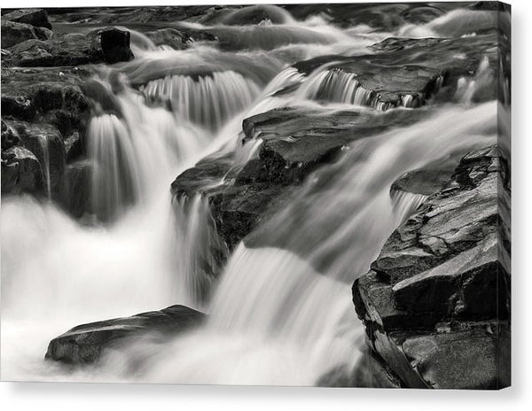 Stream Waterfall With Rocks - Canvas Print from Wallasso - The Wall Art Superstore