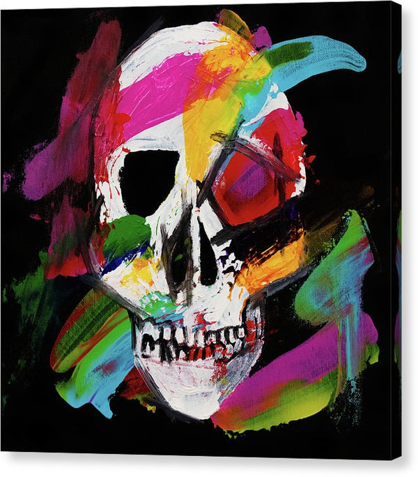 Street Art Skull by Jessica Contreras - Canvas Print from Wallasso - The Wall Art Superstore