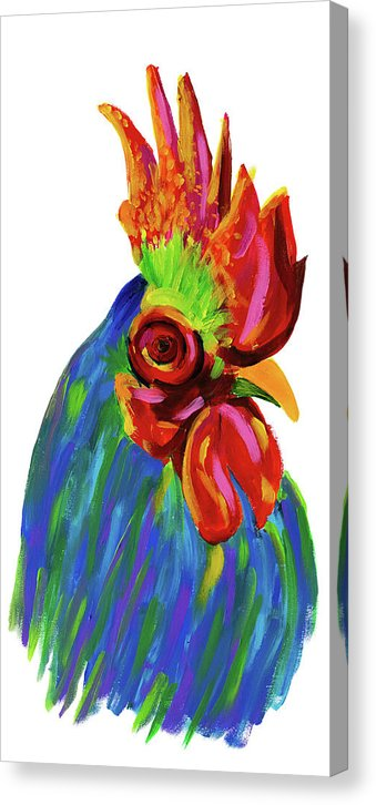 Study of A Rooster by Jessica Contreras - Canvas Print from Wallasso - The Wall Art Superstore
