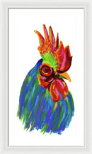Study of A Rooster by Jessica Contreras - Framed Print from Wallasso - The Wall Art Superstore
