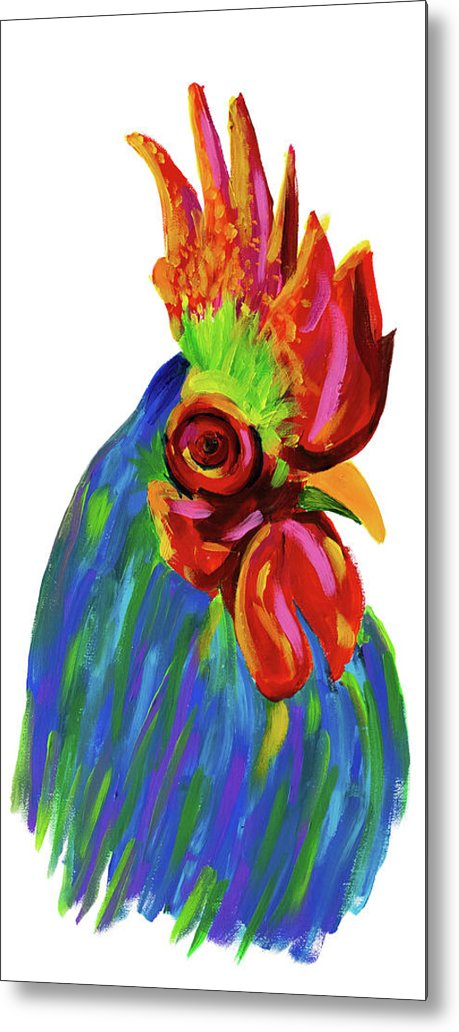 Study of A Rooster by Jessica Contreras - Metal Print from Wallasso - The Wall Art Superstore