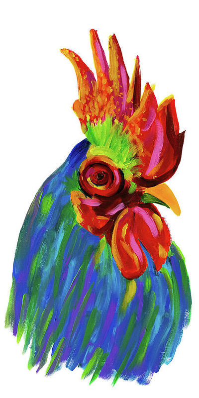 Study of A Rooster by Jessica Contreras - Art Print from Wallasso - The Wall Art Superstore