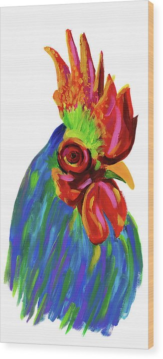Study of A Rooster by Jessica Contreras - Wood Print from Wallasso - The Wall Art Superstore